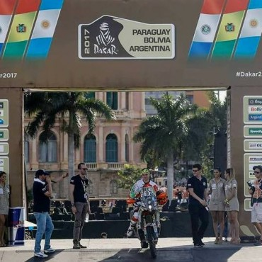 Se largó ayer simbólicamente el Dakar 2017 desde Asuncion