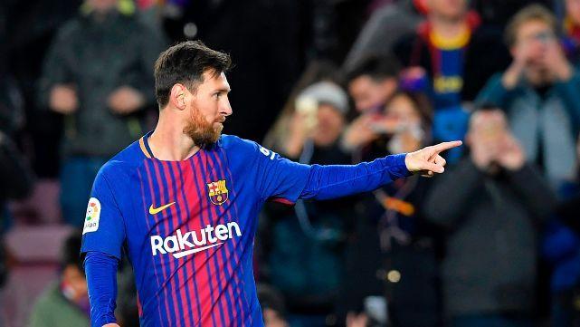 Messi clavó dos y el Barça chocó los cinco