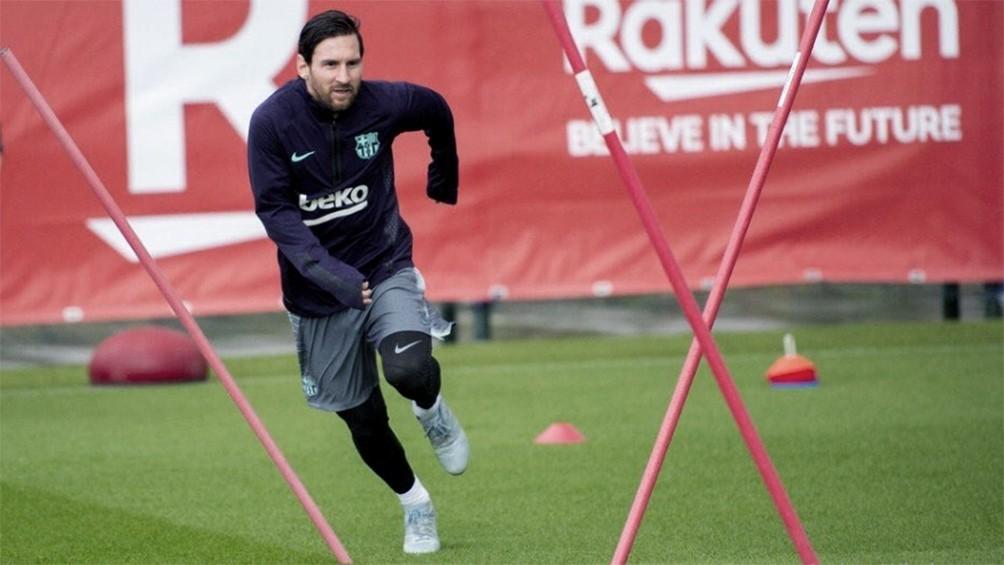 Messi se sumó a los entrenamientos de Barcelona