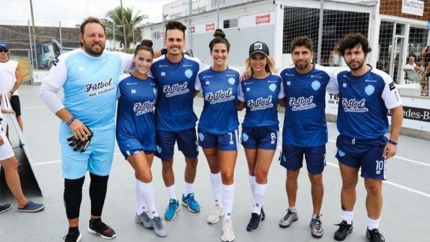 """Sasha Gigliani participo del """"Fútbol sin Violencia"""""""