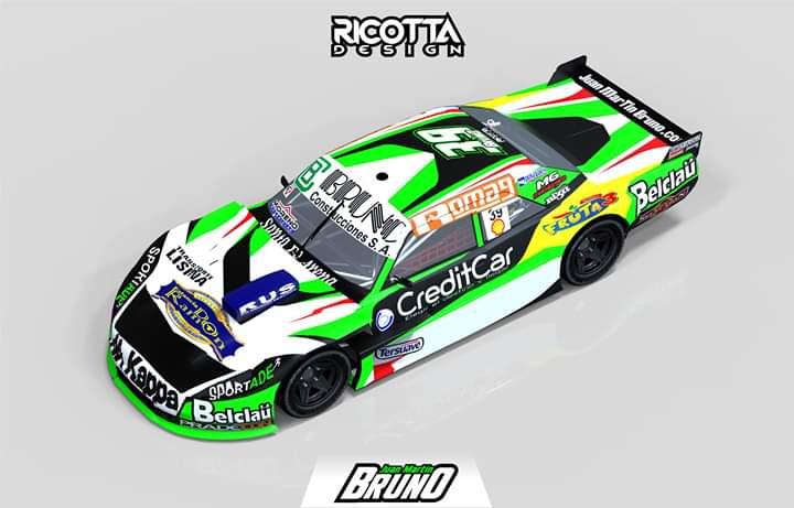 Pintura de la Dodge de Bruno para la temporada 2020