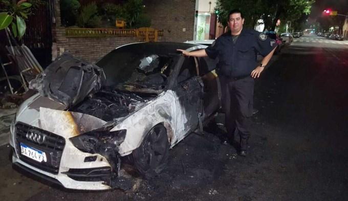 Incendian el auto del Pity Martínez