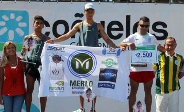 Ezequiel Aguilera corrió en los 8K de Cañuelas