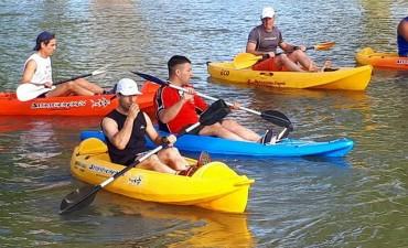 Marcelo Gabrieloni fue cuarto en Azul en Kayak/Running