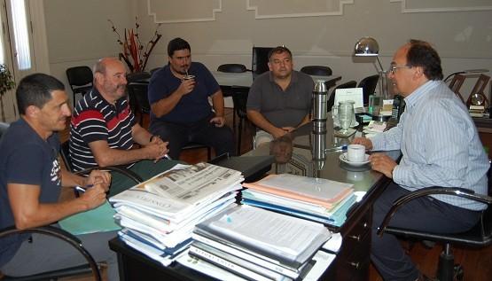 Autoridades del Club Huracán se reunieron con Salomón