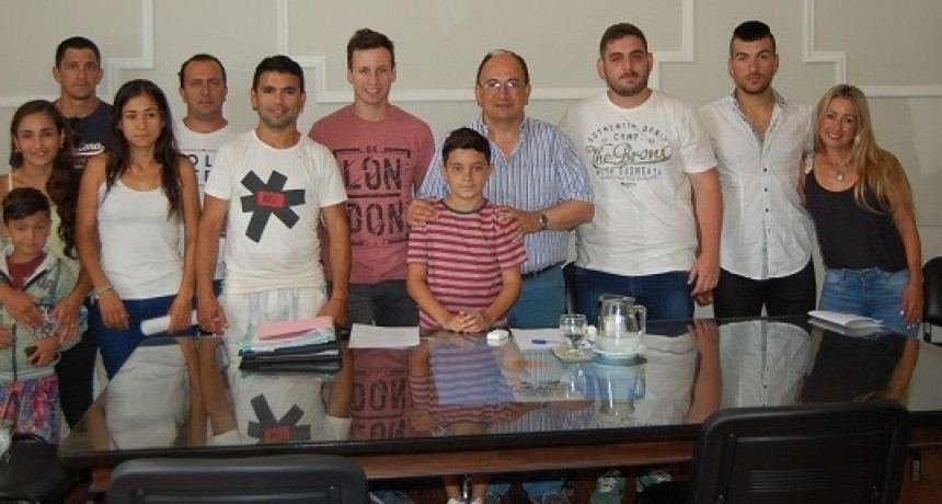 Deportistas locales se reunieron con el Intendente de Saladillo