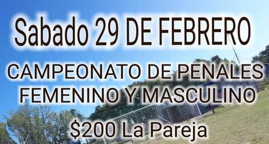 Nuevo Campeonato de Penales en cancha de Jacobo Urso