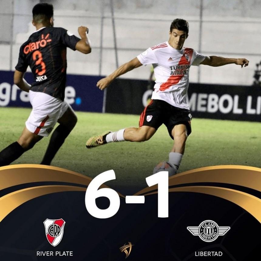 La sub20 de River con el saladillense Lombardi goleo a Libertad de Paraguay