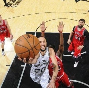 Ginóbili se destacó en la quinta victoria consecutiva de los Spurs