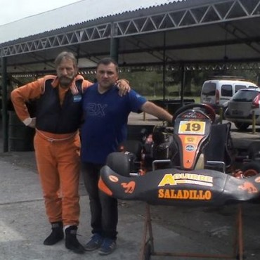 Carlos Simonetti probo en el Kartodromo de Buenos Aires