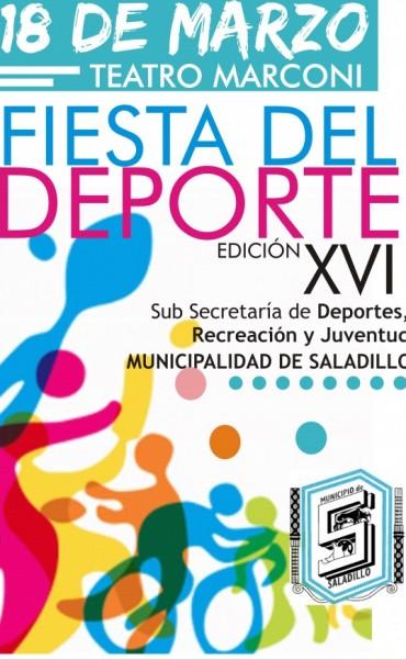 Se realiza este viernes la XVI Fiesta del Deporte 2015 en Saladillo