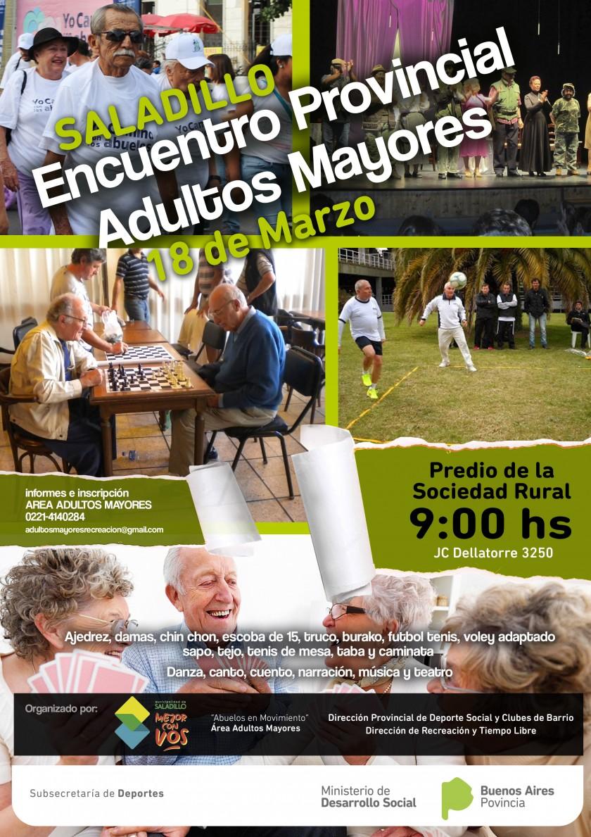 Se realiza en Saladillo Encuentro Provincial de Adultos Mayores