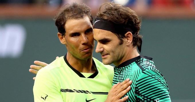 Federer se agranda mientras que Nadal y Djokovic se despiden