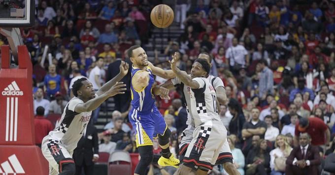 Houston sucumbió ante los Warriors de Curry