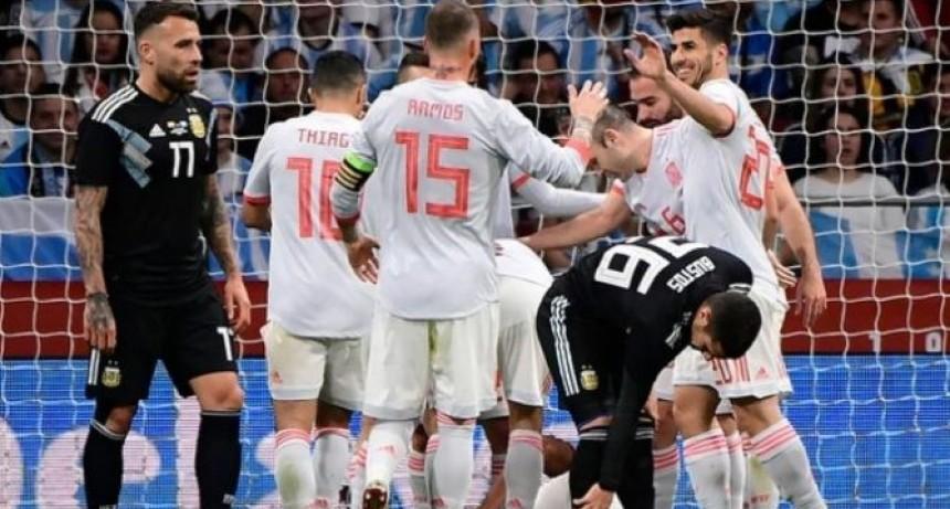 Papelón historico: Argentina perdió 6 a 1 con España a dos meses del Mundial