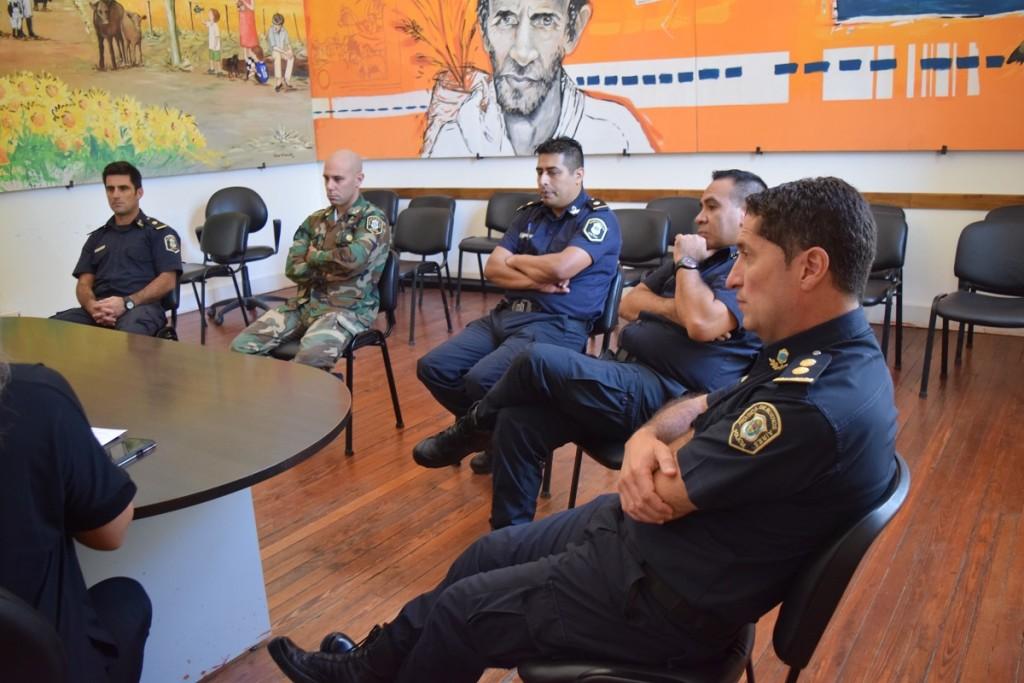 Reunión con autoridades policiales por exhaustivos controles por el Coronavirus