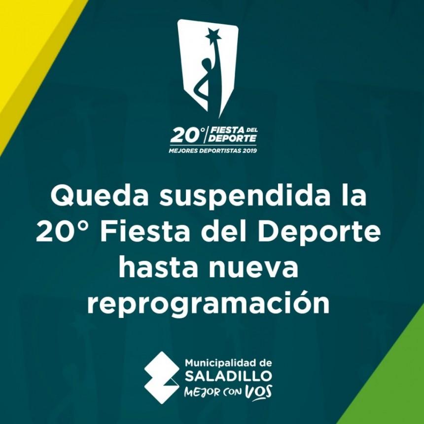 Suspendida la XX Fiesta del Deporte en Saladillo