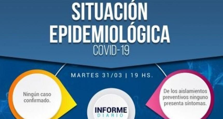 25 de Mayo: Informe Epidemiológico al 31/03/2020