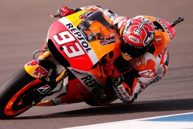 Marc Márquez con el mejor tiempo en Moto GP de Argentina