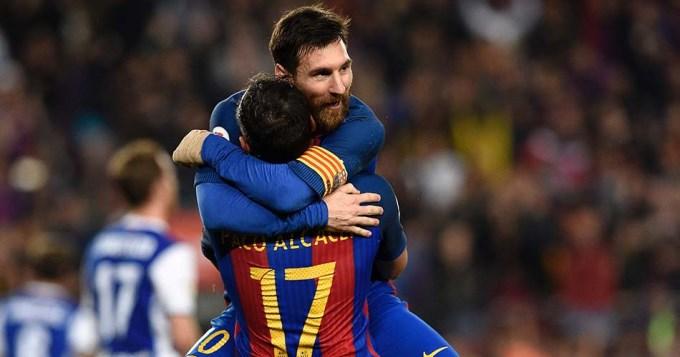 Messi la rompió, el Barsa ganó y sigue como escolta