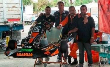 Carlos Alberto Simonetti corrió en el kartodromo de Ciudad Evita