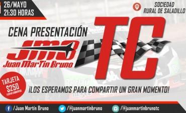 Juan Martín Bruno presenta su auto de TC en Saladillo