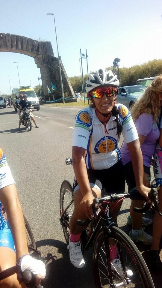 Ivana Sagardoy participó en el Campeonato Argentino de Ciclismo