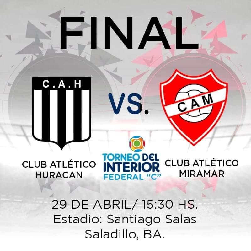 Huracán recibe a Atlético Miramar por la gran final del Federal C