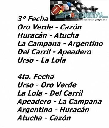 """Tercera fecha del torneo Copa """"Chuleta Reynoso"""" de Primera División"""