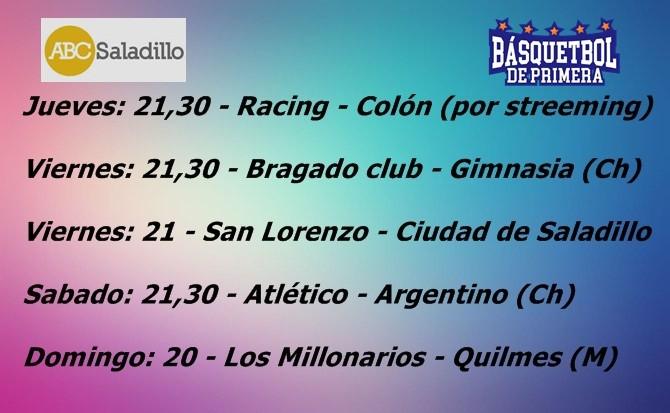 Programa de la segunda fecha del Torneo de Primera
