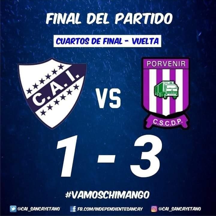 Independiente de San Cayetano eliminado del Regional Amateur