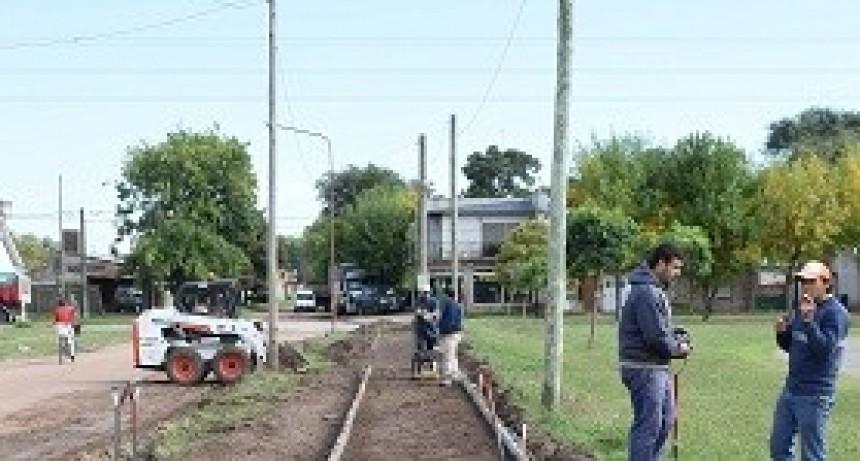 Salomón recorrió obras en el Corredor Verde
