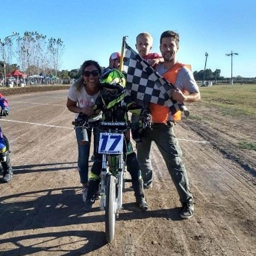 Lucio Branca, joven piloto saladillense, ganó en San Andrés de Giles