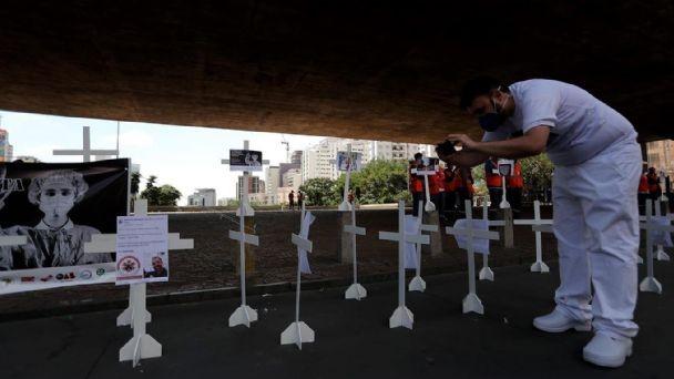 204 muertes por coronavirus en Brasil en las últimas 24 horas