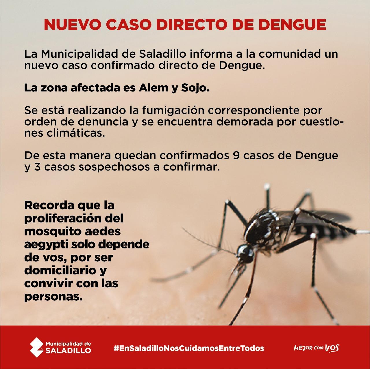 Nuevo caso de Dengue en Saladillo