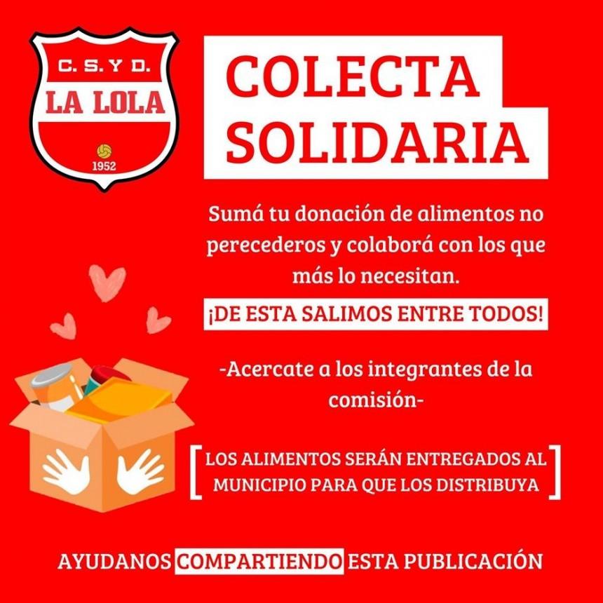 Club La Lola: Colecta Solidaria