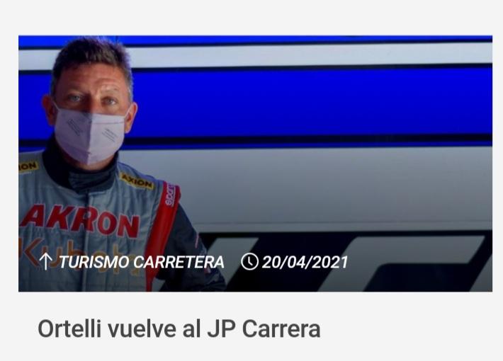 Ortelli vuelve al JP con motor de Giustozzi