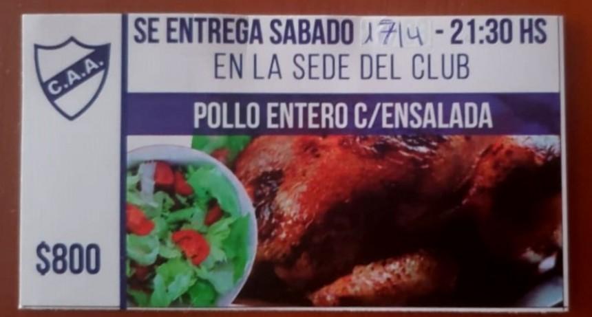 Club Argentino vende Pollo con ensalada para recaudar