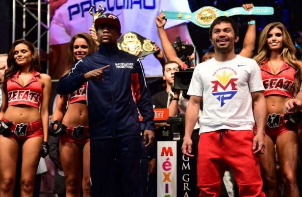 Pacquiao gana el primer asalto: abucheos a Floyd en el MGM. Todo listo para el gran combate