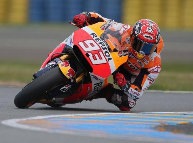 Marc Márquez saldrá desde la primera posición este domingo en el Gran Premio de Francia