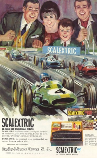 Historia del Scalextric, el juguete mas popular del mundo