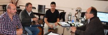 El Intendente se reunió con directivos del Club Huracán