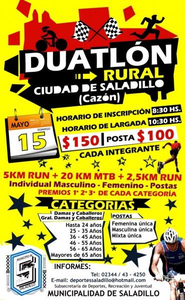 Se suspendio el Duatlón Rural en Cazón