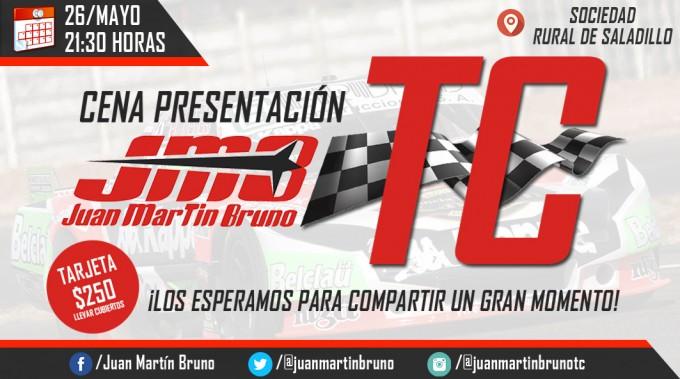 El 26 de mayo se presenta el TC de Juan M. Bruno en Saladillo