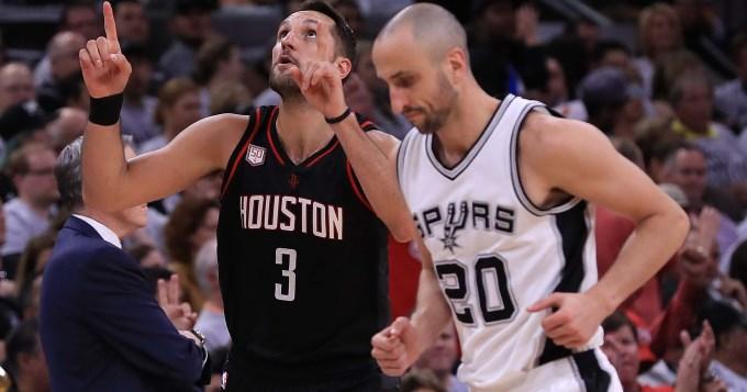 Ginóbili cumplió pero los Spurs fueron arrasados por los Rockets