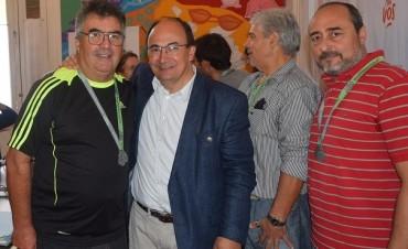 Salomón recibió al contingente de ciclistas locales que participó  del Desafío de Río Pinto