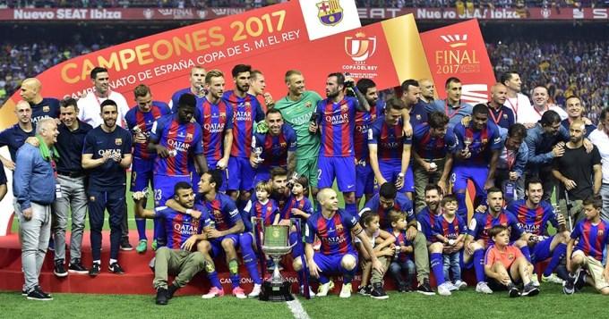 Con gol de Messi, el Barsa se coronó tricampeón de la Copa del Rey