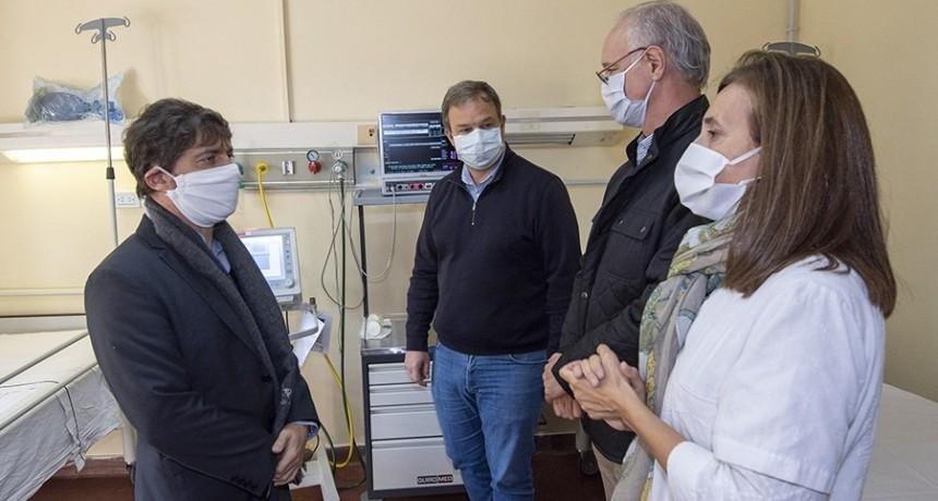 Kicillof visitó la obra de reconstrucción de un hospital paralizado desde el 2019