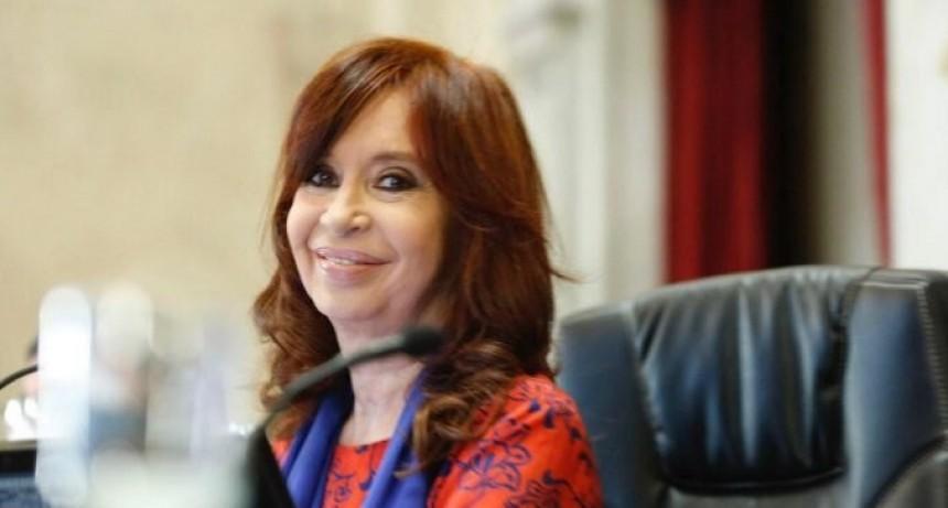 Histórico: Cristina presidió la primera votación virtual del Senado