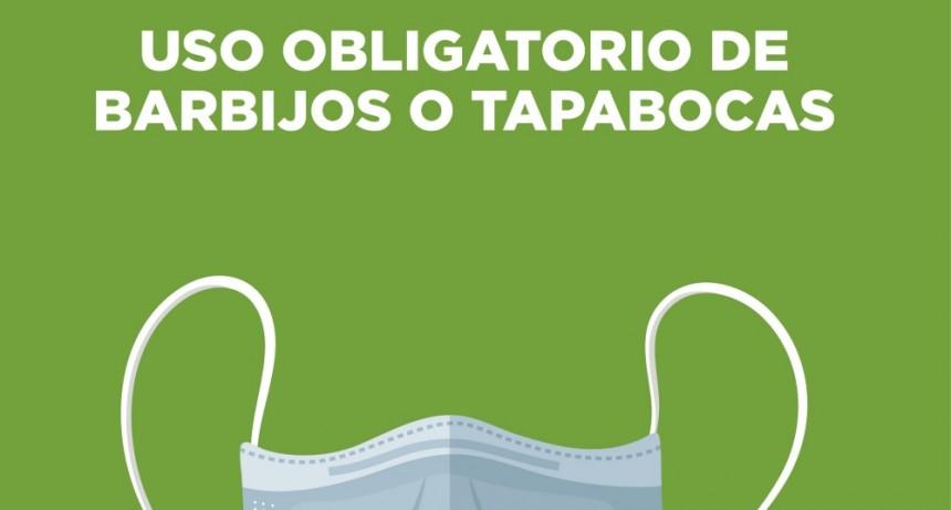 SALADILLO: USO OBLIGATORIO DE BARBIJOS O TAPABOCAS